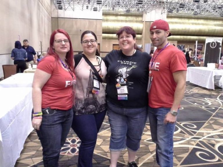 RT 2016 Vegas (Khloe Wren, LD Blakeley, Nicola Cameron, Michael the Cover model)